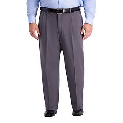 Big & Tall Haggar Work-To-Weekend PRO Relaxed-Fit Stretch Expandable-Waist Pleated Pants