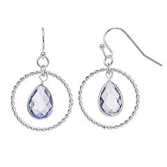 LC Lauren Conrad Hoop & Teardrop Earrings