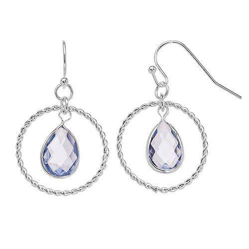 LC Lauren Conrad Hoop & Teardrop Earrings