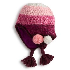 Girls 4-6x Igloos Pom & Earflap Hat