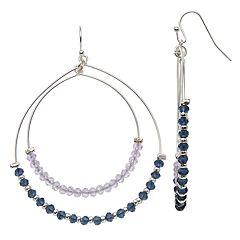 LC Lauren Conrad Beaded Double Hoop Earrings