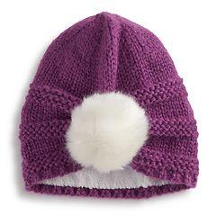 Girls 4-6x Igloos Pom Beanie Hat