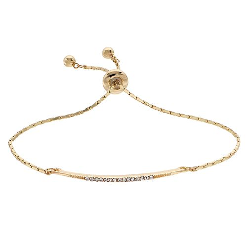 LC Lauren Conrad Gold Tone Simulated Crystal Adjustable Bracelet