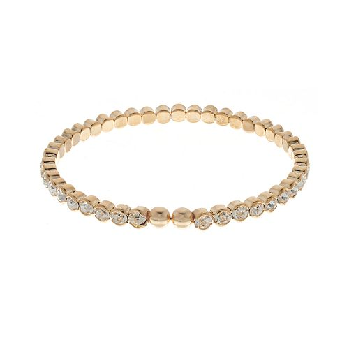 LC Lauren Conrad Gold Tone Simulated Crystal Stretch Bracelet