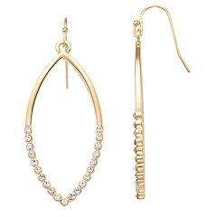 LC Lauren Conrad Simulated Crystal Marquise Nickel Free Drop Earrings