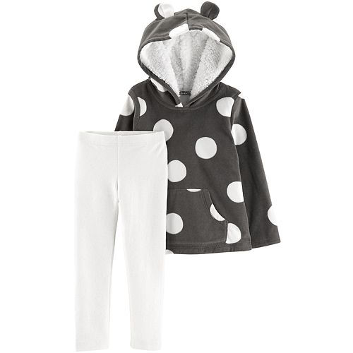 Baby Girl Carter's Print Fleece Hoodie & Leggings Set