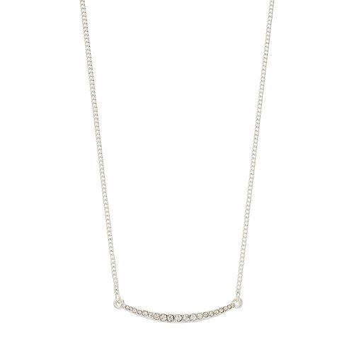LC Lauren Conrad Crystal Curved Bar Necklace