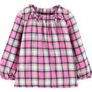 Baby Girl Carter's Cinched Lurex Top