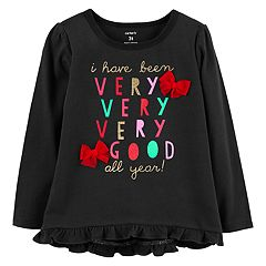 Baby Girl Carter's Graphic Ruffle-Hem Swing Top