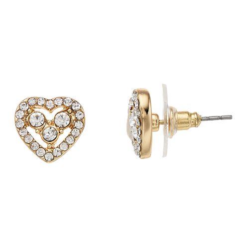 LC Lauren Conrad Heart Button Stud Nickel Free Earrings