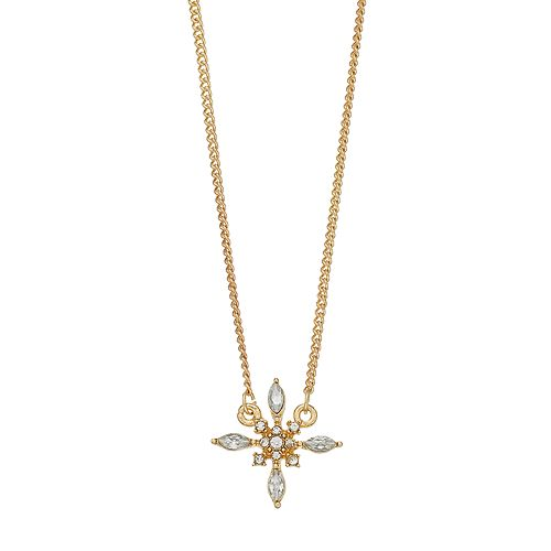 LC Lauren Conrad Simulated Crystal Burst Pendant Necklace