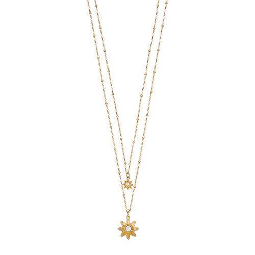 LC Lauren Conrad Double Strand Flower Pendant Necklace