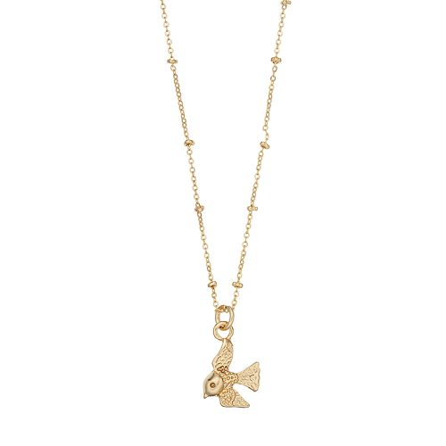 LC Lauren Conrad Gold Tone Bird Pendant Necklace
