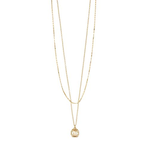 LC Lauren Conrad Gold Tone Double Strand Pendant Necklace