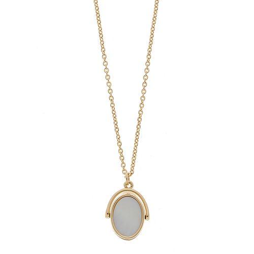 LC Lauren Conrad Gold Tone Shell Pendant Necklace