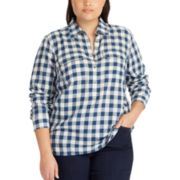 Plus Size Chaps Plaid Top