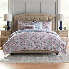 Croft & Barrow® Abstract Cotton 5-piece Reversible Comforter Set