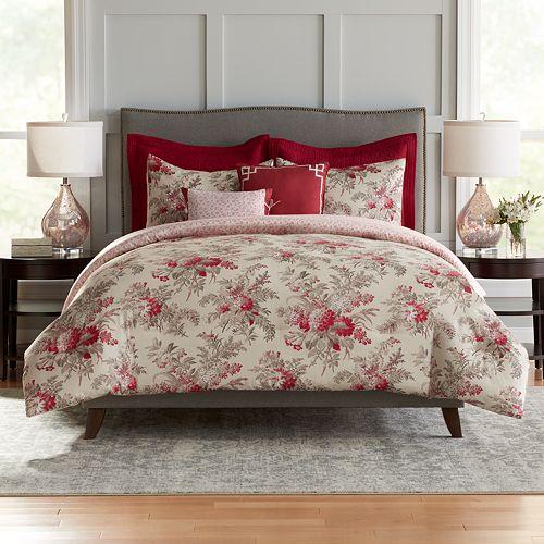 Croft & Barrow® Bouquet Cotton 5-piece Reversible Comforter Set