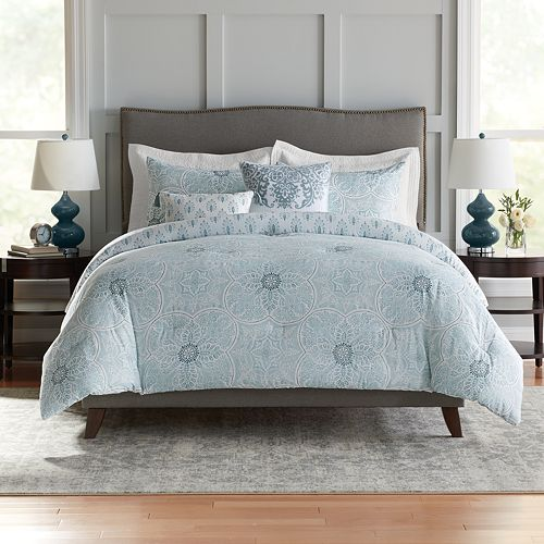 Croft & Barrow® Medallion Cotton 5-piece Reversible Comforter Set