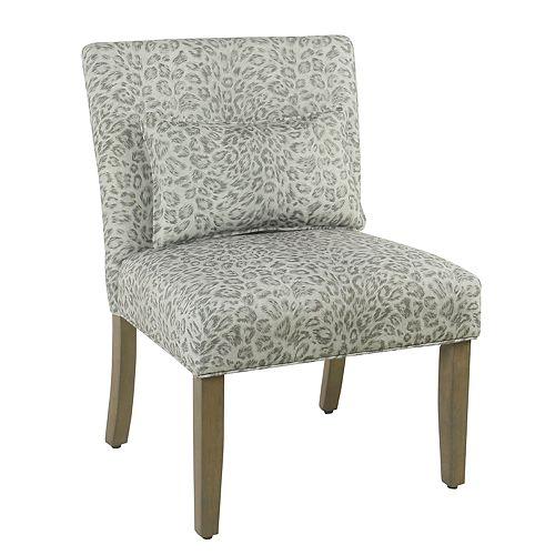 HomePop Parker Cheetah Print Accent Chair