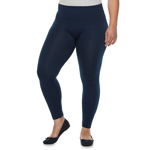 Plus Size French Laundry Waist Shape Seamless Leggings
