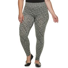 Plus Size French Laundry Space-Dye Leggings