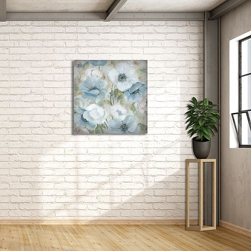 "New View Pastel Garden I 24"" x 24"" Canvas Wall Art"