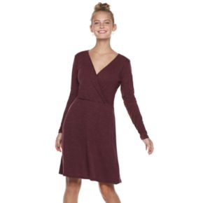 Juniors' Candie's® Lace-Back Wrap Dress
