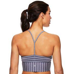 Gaiam Athena Striped Yoga Low-Impact Sports Bralette