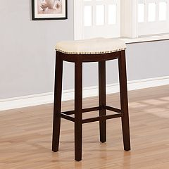 Linon Allure Tufted Backless Bar Stool
