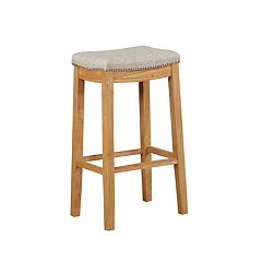 Linon Allure Nailhead Backless Counter Stool