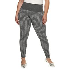 Plus Size French Laundry MidRise Jacquard Leggings