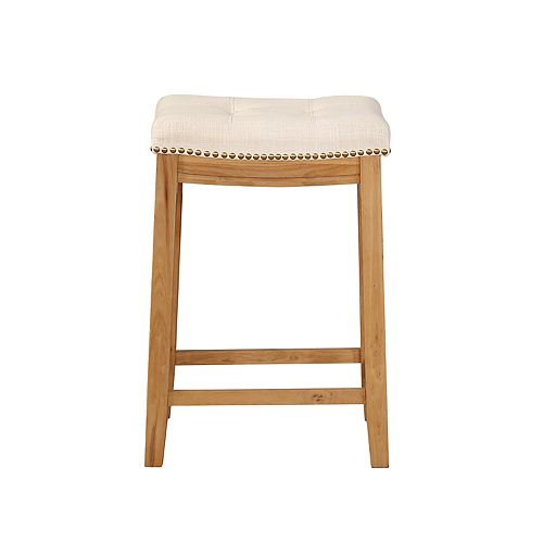 Linon Allure Tufted Backless Counter Stool