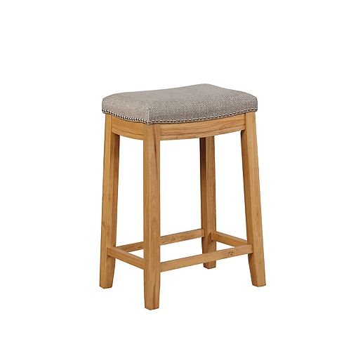 Linon Allure Stain Resistant Nailhead Counter Stool