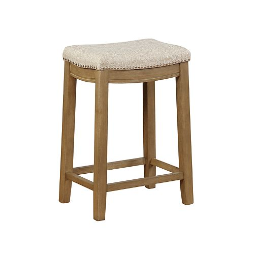 New Linon Allure Stain Resistant Nailhead Counter Stool
