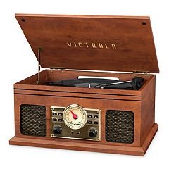 Victrola 4-in-1 Nostalgic Bluetooth Record Player with FM Radio