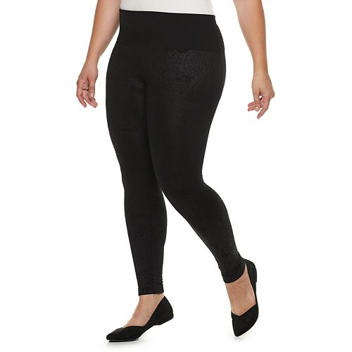 Plus Size French Laundry Seamless High-Waisted Leggings