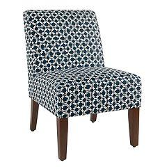 HomePop Indigo Lattice Accent Chair