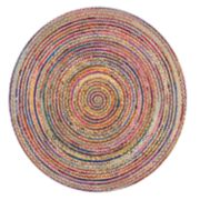 nuLOOM Aleen Colorful Braided Round Rug - 6' x 6'