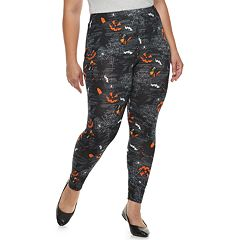 Plus Size French Laundry Printed Halloween Leggings