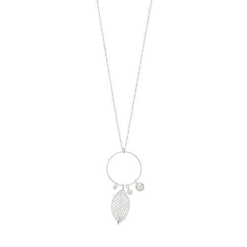 LC Lauren Conrad Long Feather Pendant Necklace
