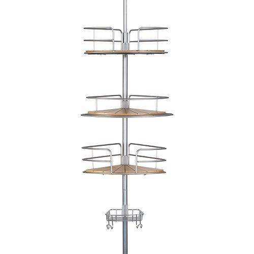 Richards Chrome & Bamboo Tension Pole