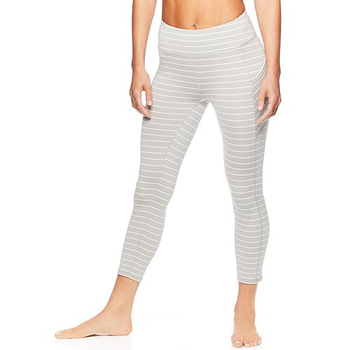 Women's Gaiam Om Stripe Yoga Midrise Capri Leggings