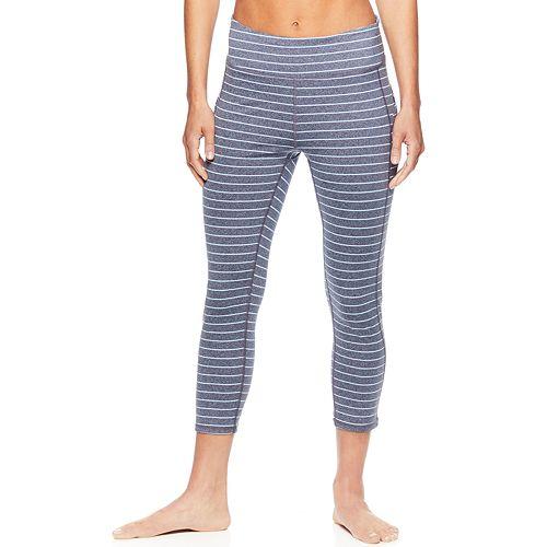 Women's Gaiam Om Stripe Yoga Midrise Capri Leggings