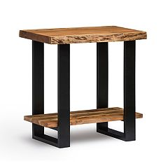 Alaterre Furniture Alpine Live Edge Wood End Table