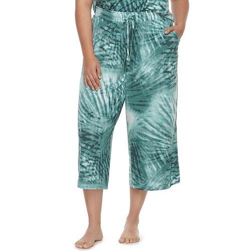 Plus Size SONOMA Goods for Life™ Printed Crop Pajama Pants