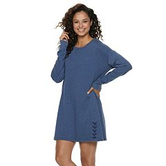 Juniors' SO® Lace-Up French Terry Sweatshirt Dress