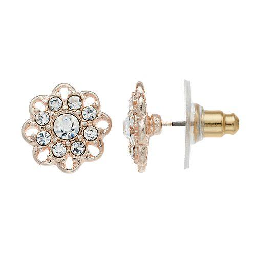 LC Lauren Conrad Flower Nickel Free Button Stud Earrings