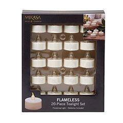 Mikasa Flameless LED Plastic Tealights 20-Pack