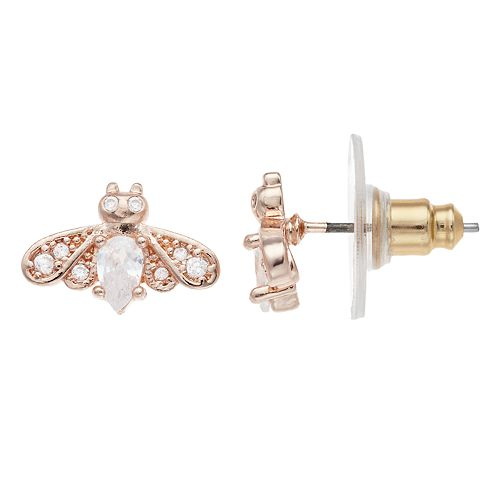 LC Lauren Conrad Bee Nickel Free Button Stud Earrings